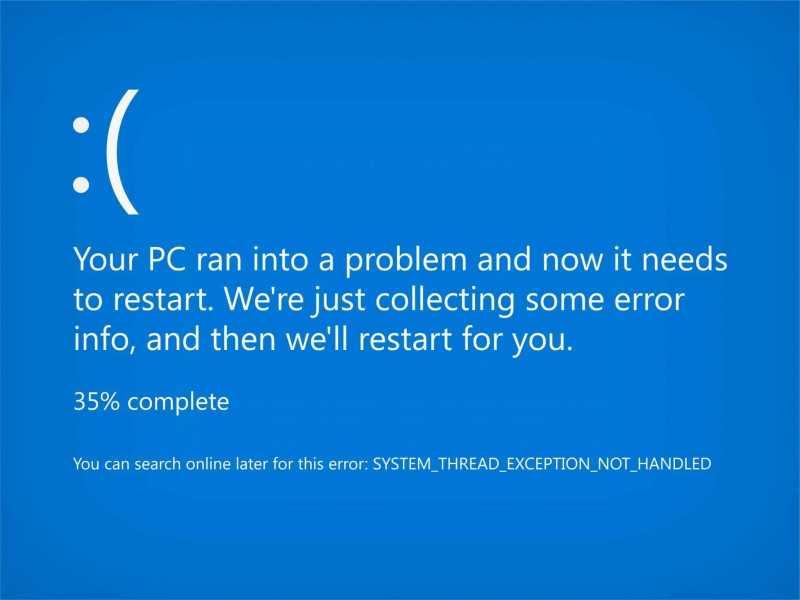 Обновление Windows одарило ноутбуки «синим экраном смерти»