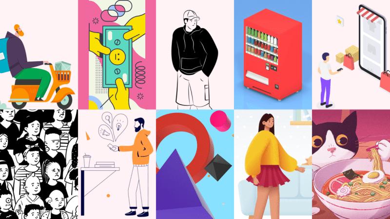 10 сайтов с бесплатными и качественными иллюстрациями