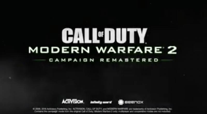 Немецкий PS Store слил ремастер Call of Duty: Modern Warfare 2