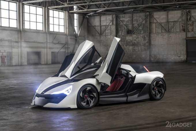 Apex Motors представила концепцию скоростного электрокара в стиле «кибердракон» (8 фото + видео)