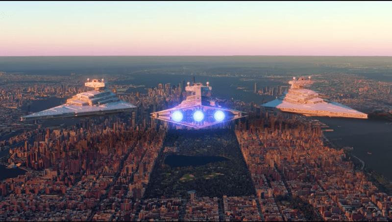 Как выглядели бы боевые корабли саги «Звездные войны» по сравнению с земными объектами