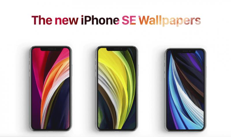 Скачать обои нового iPhone SE 2020