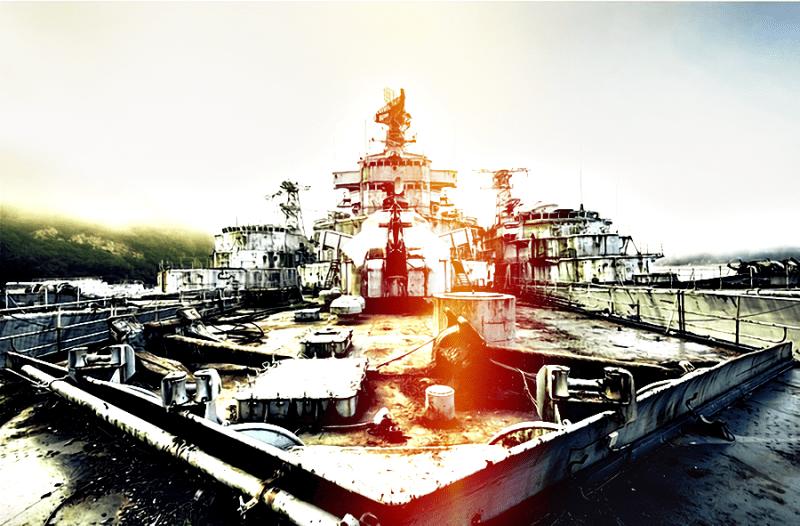 Парень пробрался на кладбище французских военных кораблей и детально снял, как там внутри и снаружи | [видео и фото]