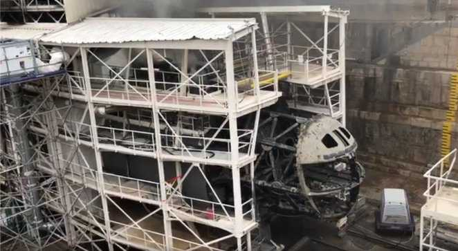 Атомная подлодка во Франции сгорела дотла