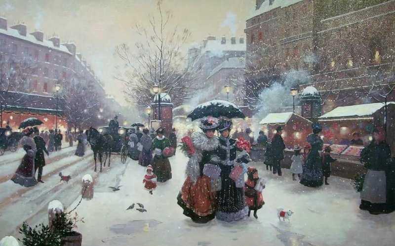 В ожидании чуда: Новый год и Рождество на картинах художников конца XIX – начала XX вв.