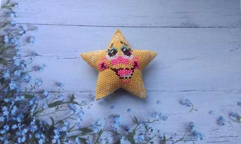 Звезда с неба (из бисера)
