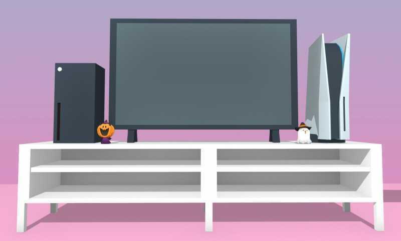Как PlayStation 5 и Xbox Series X смотрятся на полке? Художник создал 3D-модели консолей