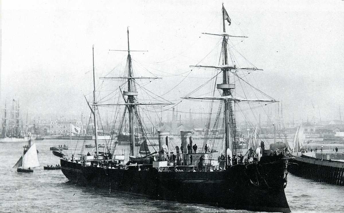 japanese cruiser unebi 1886 - Мистика на войне. Пять самых таинственных исчезновений людей и военной техники