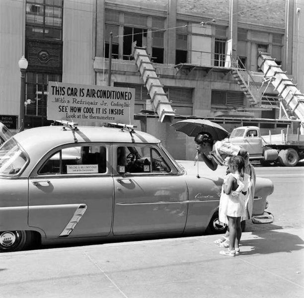 1952 ford air conditioner 1 - Холодный воздух навынос: как охлаждали автомобили до эпохи кондиционеров