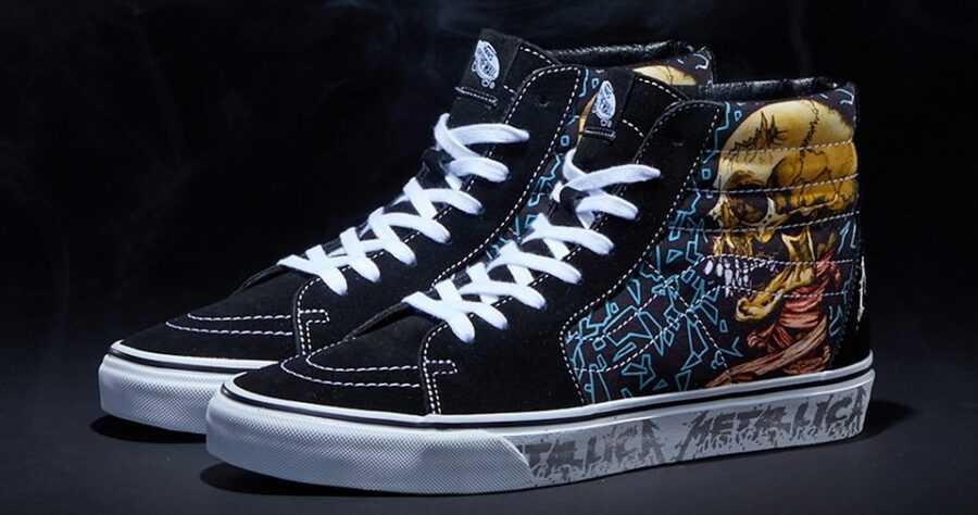 Металлика объединилась с Vans для создания ряда новой обуви