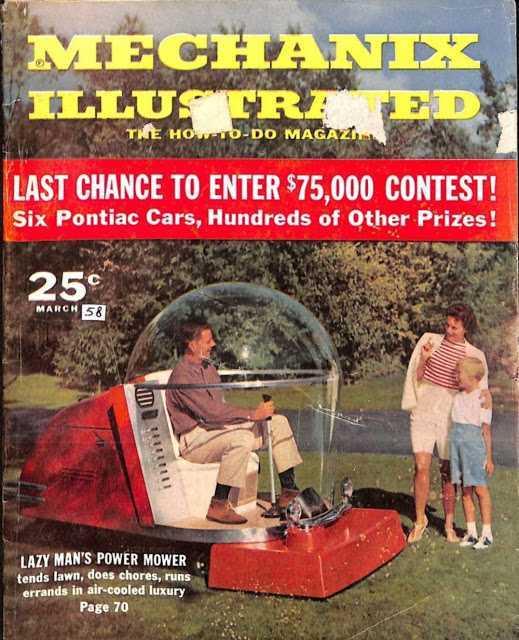 power mower mechanix illustrated cover - Холодный воздух навынос: как охлаждали автомобили до эпохи кондиционеров