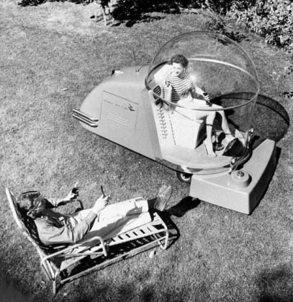 the power mower of the future 1957 991x1024 1 - Холодный воздух навынос: как охлаждали автомобили до эпохи кондиционеров