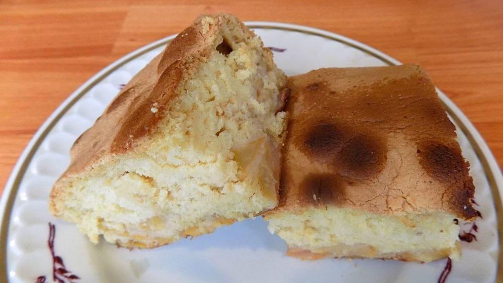 Яблочный пирог на заливном тесте